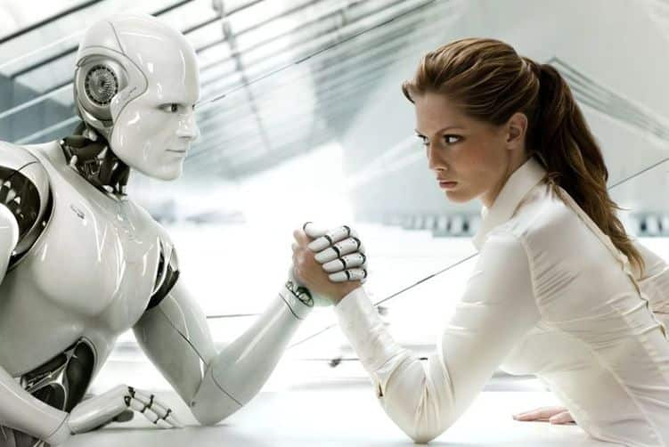 Robot vs. Mensch