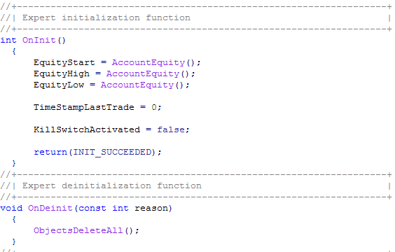 Expert Advisor Programmierung